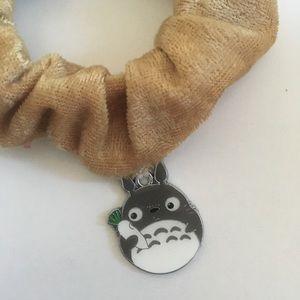 Totoro Charm Velvet Scrunchie